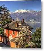 House On The Lake Front Metal Print
