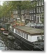 Houseboats Of Rotterdam Metal Print