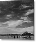 Houseboats On Lake Powell Metal Print by Andrew Soundarajan