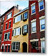 Houses In Boston Metal Print