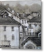 houses in Fiumalbo Metal Print