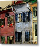 Houses In Transylvania 1 Metal Print