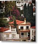 Houses On The Hill Nerja Metal Print by Mary Machare