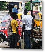 How Market Lagos Metal Print