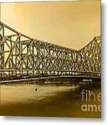 Howrah Bridge Metal Print by Mukesh Srivastava
