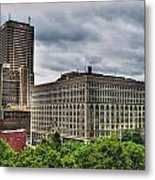 Hsbc Tower    Ellicott Square Buliding Metal Print
