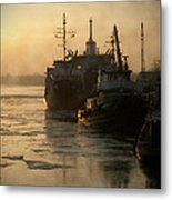 Huddled Boats Metal Print