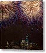 Hudson River Fireworks Xi Metal Print