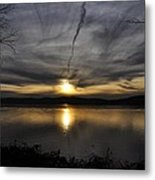 Hudson River Sunset Metal Print