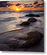 Hug Point Tides Metal Print