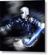 Humanoid Robot, Artwork Metal Print