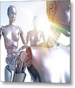 Humanoid Robots, Artwork Metal Print