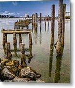 Humboldt Bay Over Darkening Skies Metal Print
