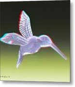 Hummingbird - Use Red-cyan 3d Glasses Metal Print