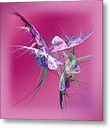 Hummingbird Fantasy Abstract Metal Print
