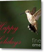 Hummingbird Holiday Card Metal Print