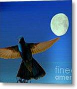 Hummingbird Moon II Metal Print by Al Bourassa
