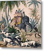 Hunting: Big Game, 1852 Metal Print