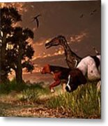 Hunting In The Age Gene Splicing Metal Print