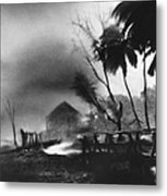 Hurricane In The Caribbean Metal Print