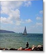 Hurst Point Watching  Metal Print