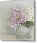 Hydrangea And Mum Metal Print