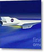 Hyper-x Hypersonic Aircraft Metal Print