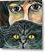 Hypnotic Cat Eyes Metal Print
