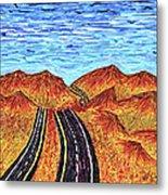 I - 15 Nevada To California Metal Print