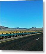 I-15 Highway, Los Angeles To Las Vegas Metal Print