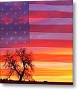 I Am Thankful To Be An American Metal Print