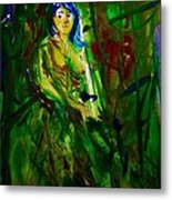 I Can See Sadness From Her Eyes Metal Print