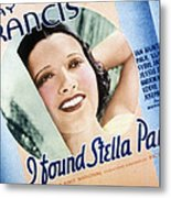 I Found Stella Parish, Kay Francis, 1935 Metal Print