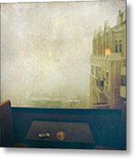 I Just Sat There Staring Out At The Fog Metal Print by Laurie Search
