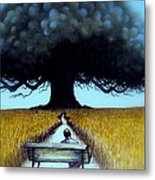 I Looked At The Abandoned Tree And I Not Saw Nests Neither Birds Metal Print