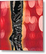 I Love The Night Life Patent Boots Metal Print