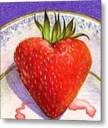 I Love You Berry Much Metal Print