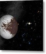 Iapetus And Saturn Metal Print