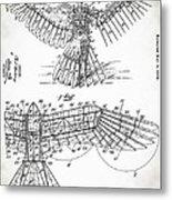 Icarus Patent 1889 Metal Print