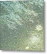 Ice Abstract Metal Print