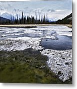 Ice And Water Vermilion Lakes Metal Print