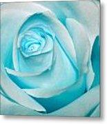 Ice Blue Rose Metal Print