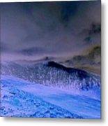 Ice Blue Stone Metal Print