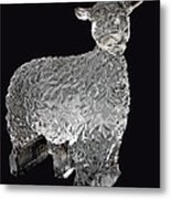 Ice Cold Lamb Carved In Ice Metal Print
