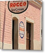 Ice Cream Shop In Todos Santos Metal Print
