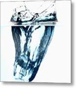 Ice Cube Splash #3 Metal Print