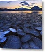 Ice Flakes Drifting Towards Metal Print by Arild Heitmann