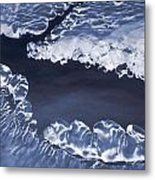 Ice Formations On Small Creek Metal Print