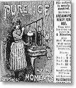 Ice Machine, 1891 Metal Print