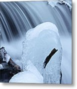 Ice Tombstone Frozen In Time Metal Print